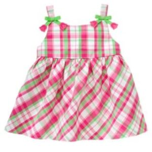 NWOT Gymboree plaid sleeveless top with tulips, 2T